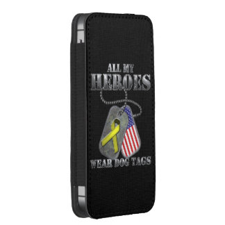 All My Heroes Wear Dog Tags iPhone SE/5/5s/5c Pouch