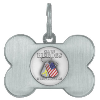 All My Heroes Wear Dog Tags Pet Name Tag