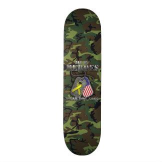 All My Heroes Wear Dog Tags Skateboard Deck