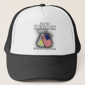 All My Heroes Wear Dog Tags Trucker Hat