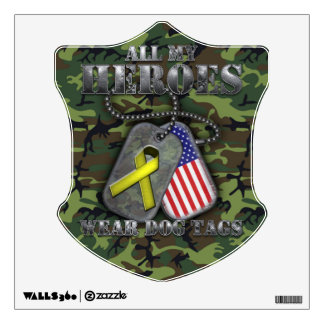 All My Heroes Wear Dog Tags Wall Decal