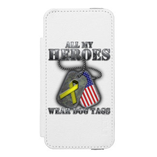 All My Heroes Wear Dog Tags Wallet Case For iPhone SE/5/5s