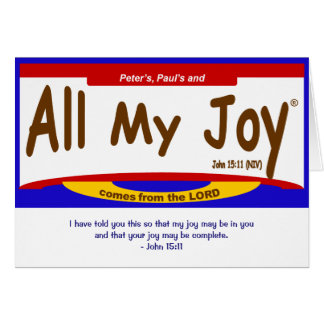 All My Joy Lord Note Card, envelope included Stationery Note Card