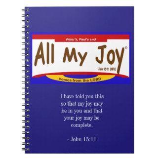 All My Joy Lord Notebook/Journal (80 pgs) Spiral Notebook