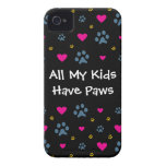 All My Kids-Children Have Paws iPhone 4 Case-Mate Case