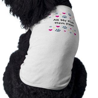 All My Kids-Children Have Paws Doggie Tee Shirt