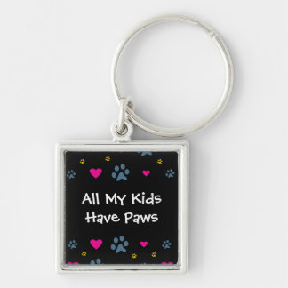 All My Kids-Children Have Paws Keychain