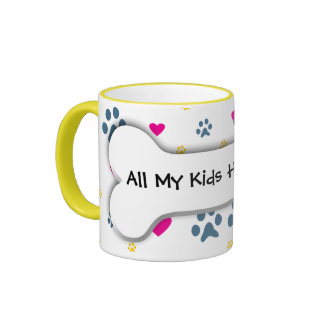 All My Kids-Children Have Paws Ringer Coffee Mug