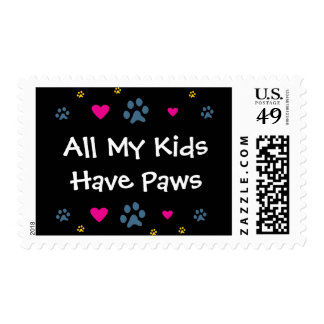 All My Kids-Children Have Paws Postage