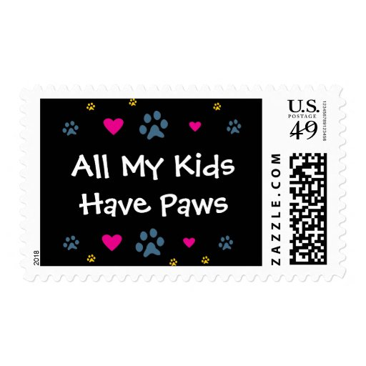 All My Kids-Children Have Paws Stamp