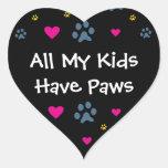 All My Kids-Children Have Paws Sticker