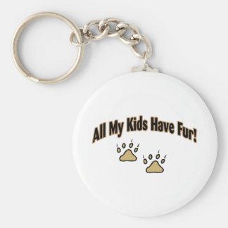 All My Kids Have Fur Basic Round Button Keychain
