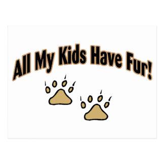 All My Kids Have Fur Postcard