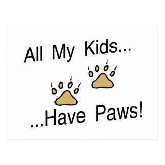 All My Kids Have Paws Postcard