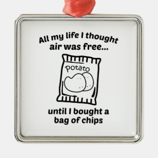 All My Life I Thought Air Was Free Metal Ornament