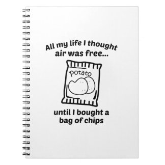 All My Life I Thought Air Was Free Notebook