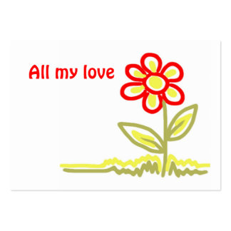 All my love gift tag large business card