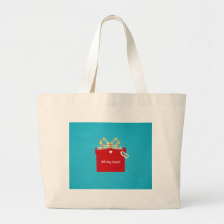 All my love, Mom Large Tote Bag