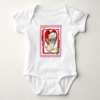 """All My Love"" Retro Cat Valentine Infant Creeper"