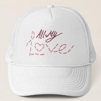 """All My Love"" words Trucker Hat"