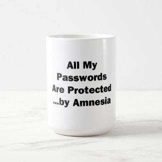 All My Passwords are Protected...by Amnesia Coffee Mug