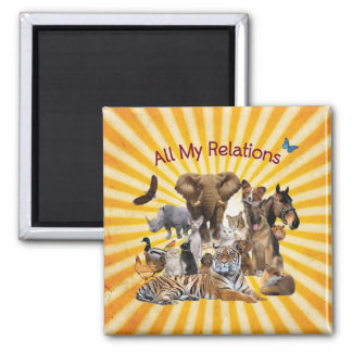All My Relations Animal Love Magnet