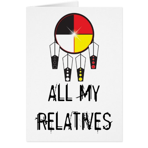 All my relatives greeting card zazzle