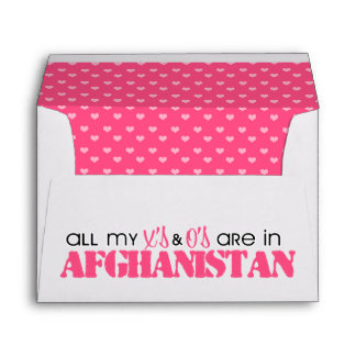 All my X's and O's are in Afghanistan Envelope