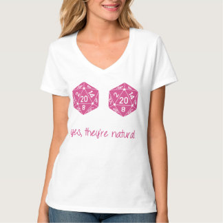 All Natural 20 Breasts Dice T-Shirt
