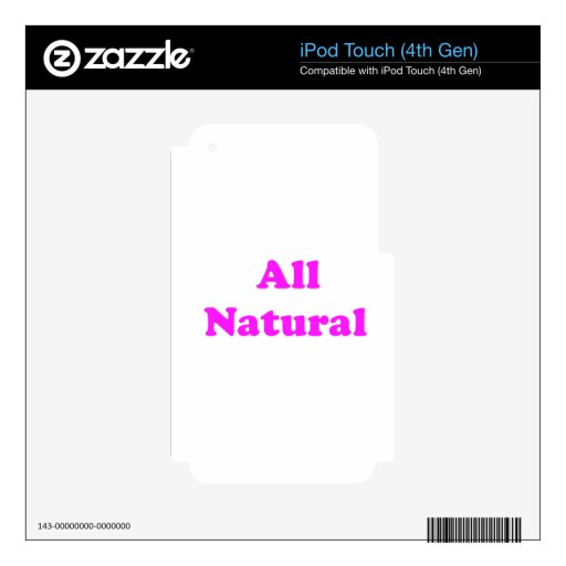 all natural iPod touch 4G decals