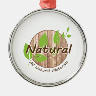 All Natural Materials Metal Ornament