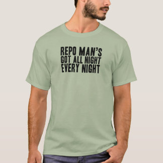 All Night, Every Night Text Only T-Shirt