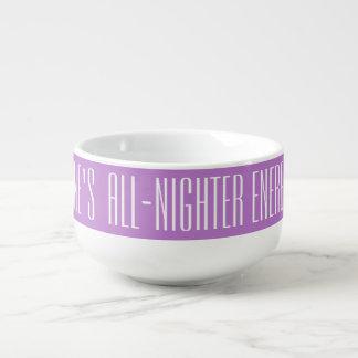 All-Nighter Energy Booster custom soup mug