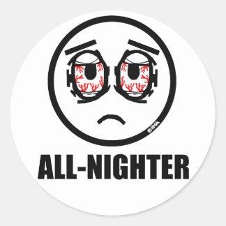 All-nighter Round Sticker