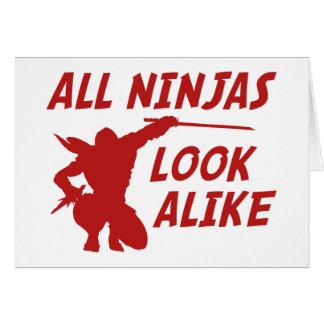 All Ninjas Look Alike Cards