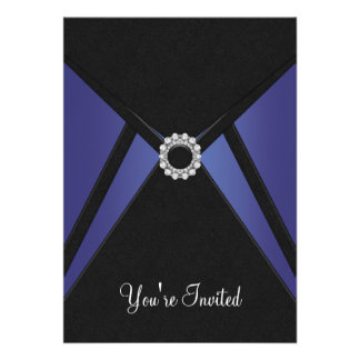 All Occasion Black Navy Blue Invitation Template