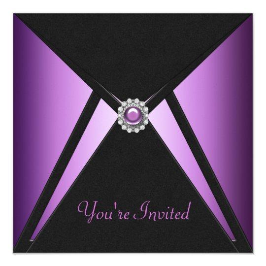 All Occasion Black Purple Party Invitations – Purple Party Invitations