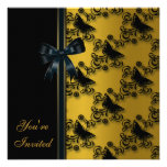 All Occasion Butterfly Gold Invitation Template