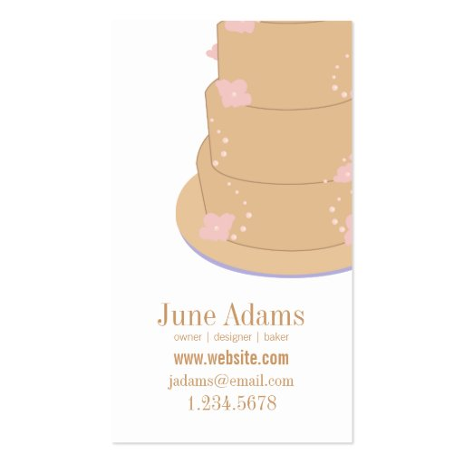 All-Occasion Cake Bakery & Event Planner Business Card Templates
