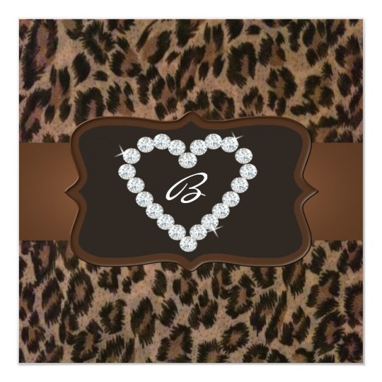 All Occasion Cheetah Print Diamond Birthday Party Card