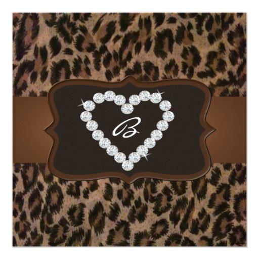 Personalized Cheetah print Invitations – Cheetah Birthday Invitations