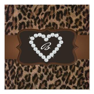 All Occasion Cheetah Print Diamond Birthday Party Invitations