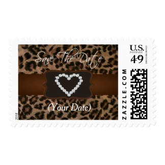 All Occasion Cheetah Print Diamond Birthday Party Postage Stamps