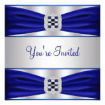 All Occasion Cobalt Blue Party Invitation Template