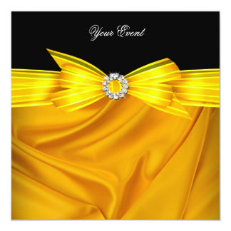 All Occasion Luxury Yellow Black Party Card