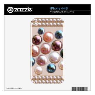 All occasion : Super Jewel PEARL GIFTS Skin For iPhone 4S