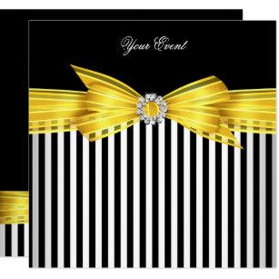 Black And Yellow Invitations Zazzle