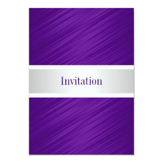 All Occasions Elegant Purple Stripes Card