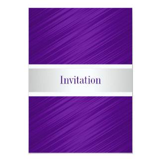 All Occasions Elegant Purple Stripes Invitations
