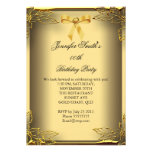 All Occasions Elite Elegant Party Gold Damask Custom Invites